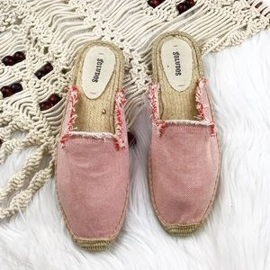Soludos fray canvas mules